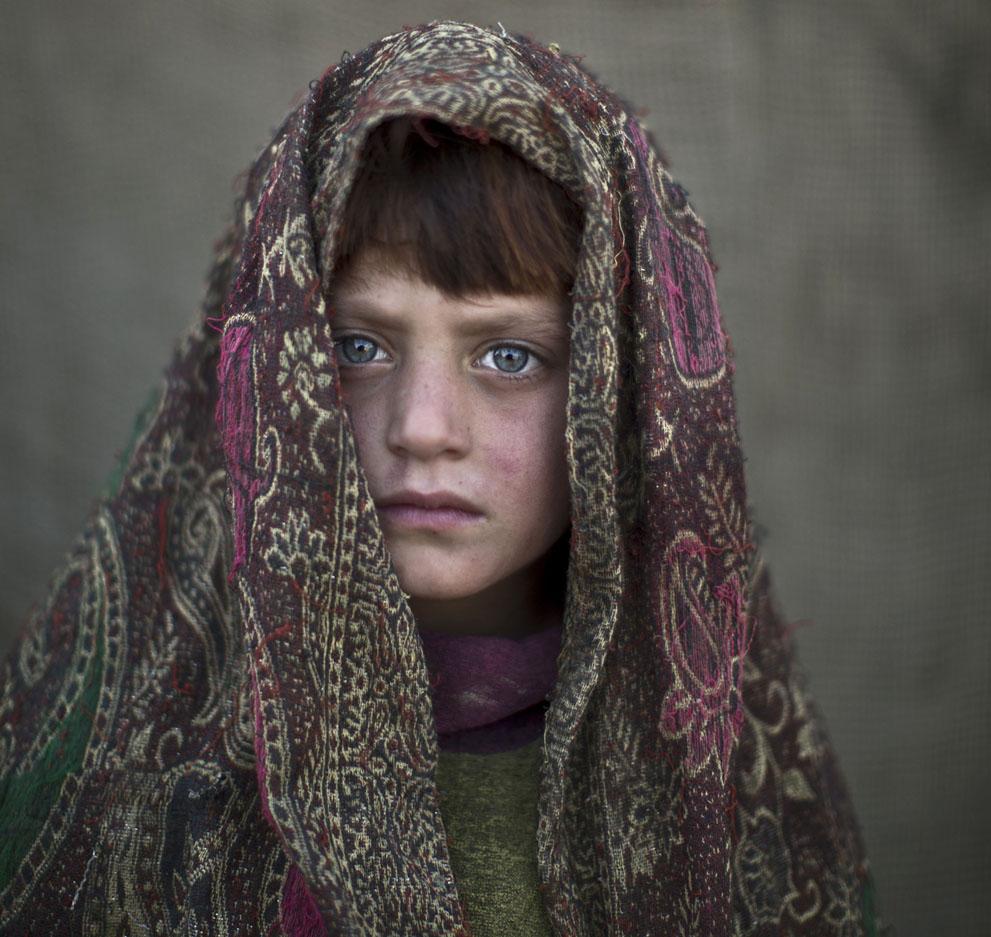 Naseebah Zarghoul, 6 años. Refugiada afgana. Muhammed Muheisen