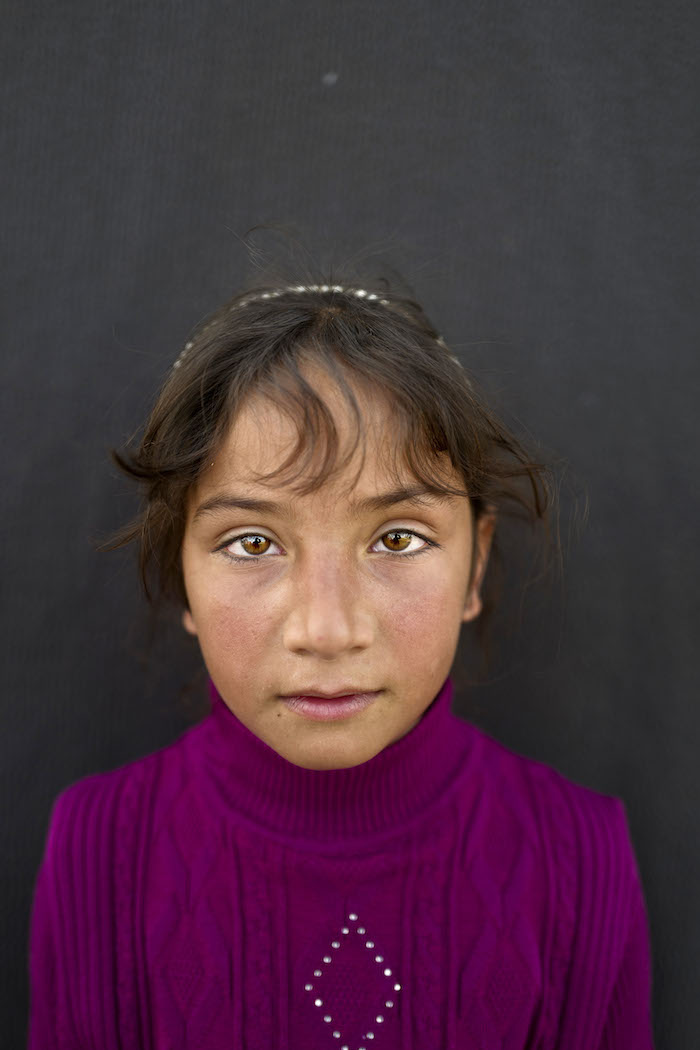 Mariam Aloush, 8 años. Refugiada siria. Muhammed Muheisen