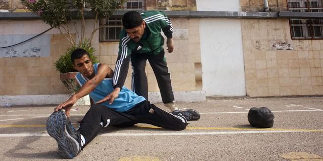 Jihad Masri nació en el campo de refugiados de Nur Shams hace 24 años. Fue oro, plata y bronce en las Olimpiadas especiales de Asia, África y los países árabes. Gervasio Sánchez/UNRWA