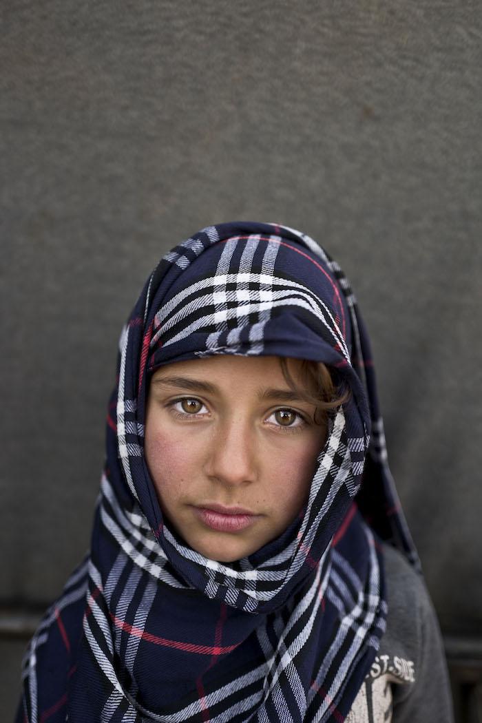 Hiba So'od, 6 años. Refugiada siria. Muhammed Muheisen