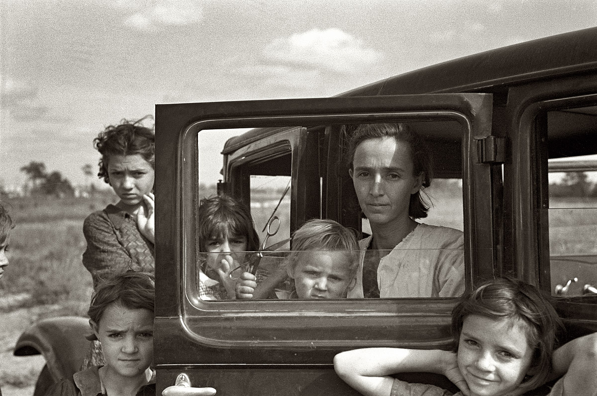 The Oklahoma Migrants (1936). Arthur Rothstein