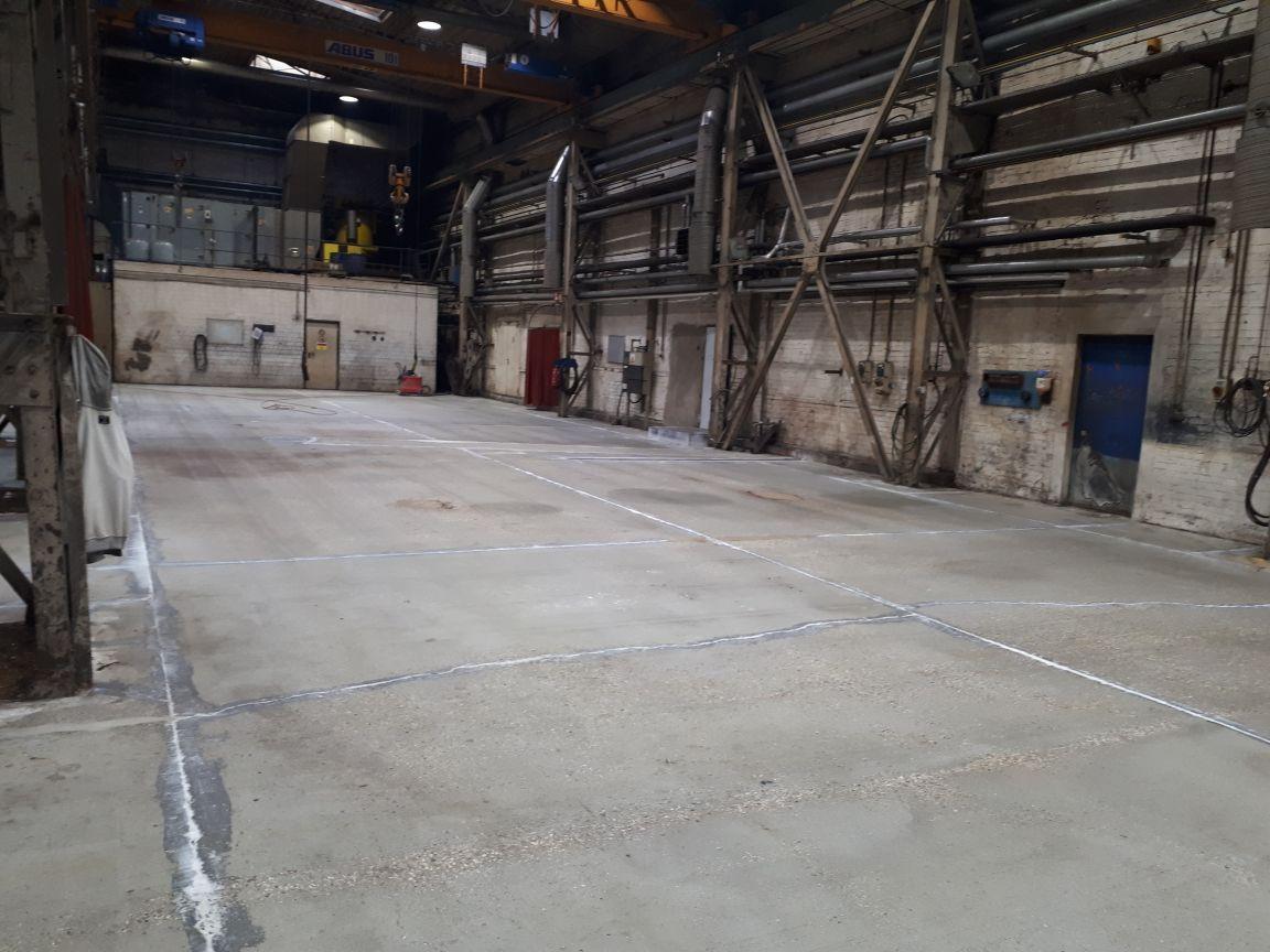 AFT- vorbereiteter Industriefußboden