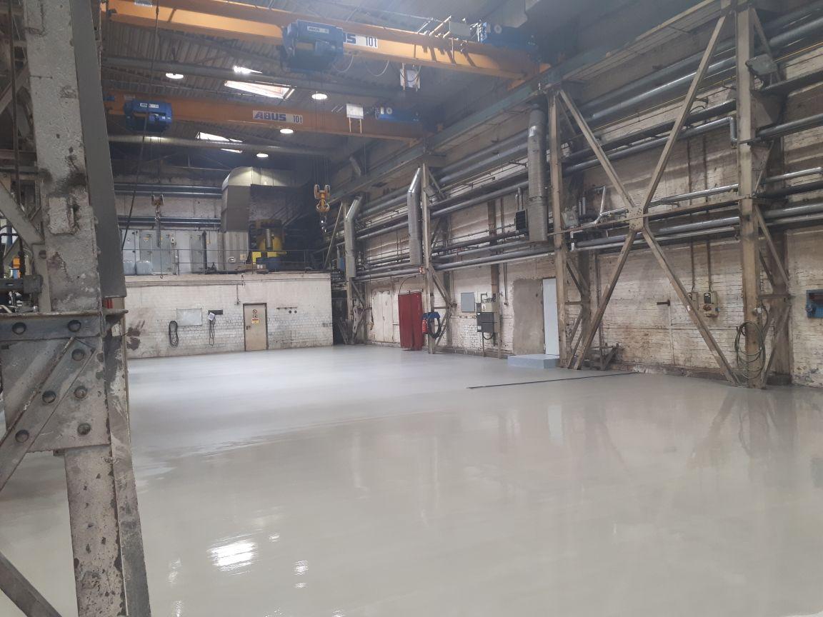 AFT- Der fertige Industrieboden mit Beschichtung