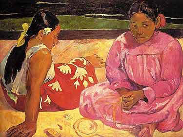 gauguin, tahiti, foulard, carré de soie, twill de soie, fanfaron, mon petit fanfaron