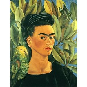 frida kahlo, latina, foulard, carré de soie, twill de soie, fanfaron, mon petit fanfaron