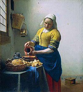 vermeer, laitière, foulard, carré de soie, twill de soie, fanfaron, mon petit fanfaron