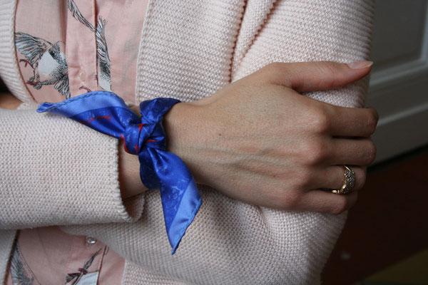 mon petit fanfaron, carre de soie, foulard en soie, foulard bracelet, accessoire, luxe