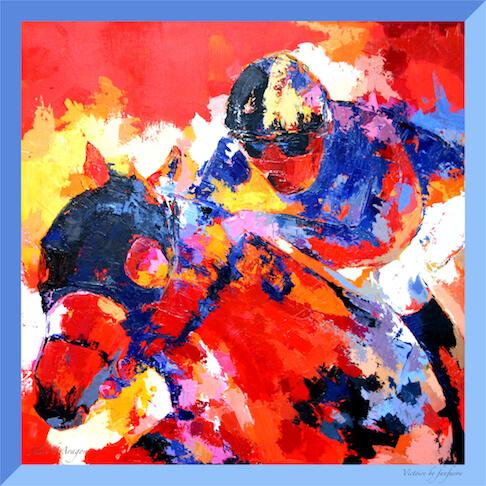 Carré de soie Foulard Victoire Julie d'Aragon Peintre Fanfaron Made in France
