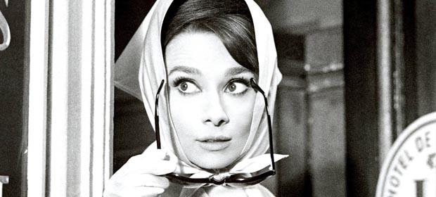 foulard, carré de soie, cinema, audrey hepburn
