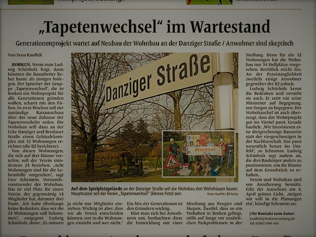 Borkener Zeitung 22.03.2017