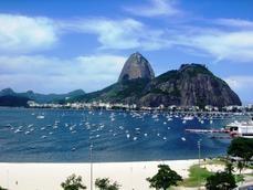 Praia de Botafogo.