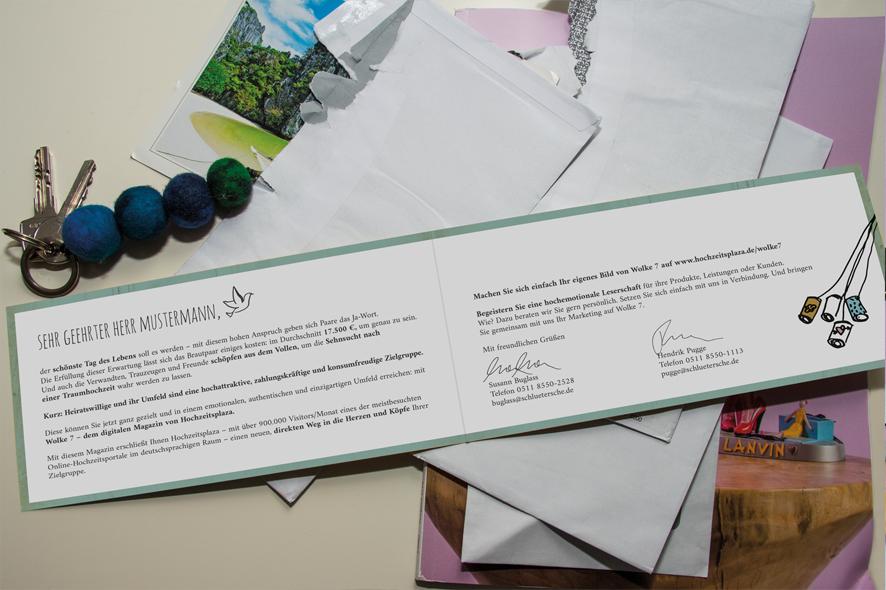 Mailing »Wolke7« | Schlütersche Verlagsgesellschaft | Auftraggeber: Schlütersche Verlagsgesellschaft