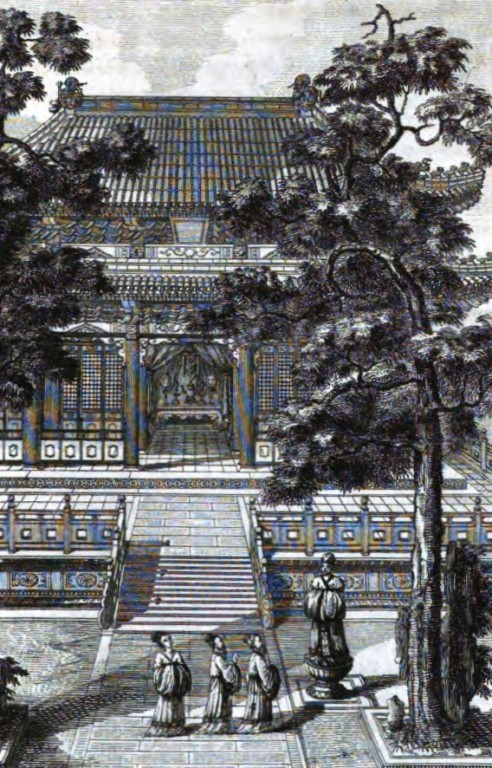 Salle extérieure par laquelle on passait pour aller à la Chapelle de Heou-tsi