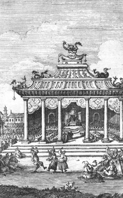 Danseurs, sauteurs. Jean Bell d'Antermony (1691-1780) : Voyages depuis St Petersbourg en Russie dans diverses contrées de l'Asie,... à Pékin, à la suite de l'ambassade envoyée par le Czar Pierre I, à Kamhi, Empereur de la Chine.