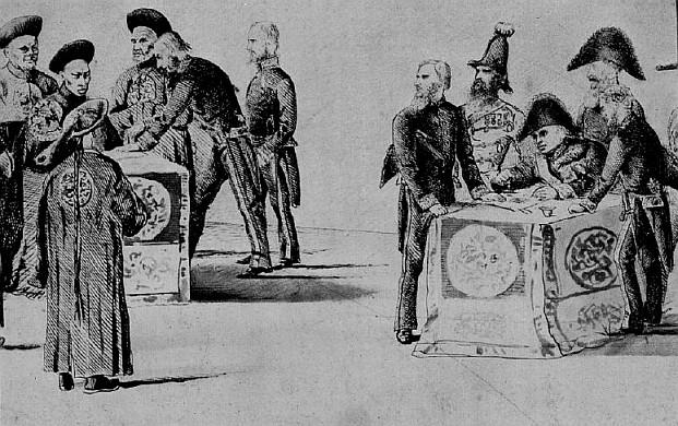 Signature du traité de paix. Charles Cousin de Montauban (1796-1878) : L'expédition de Chine de 1860. Librairie Plon, Paris, 1932, 450 pages.