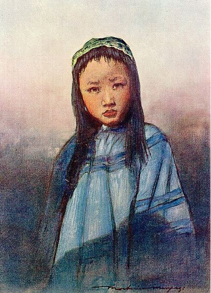 A chinese girl.
