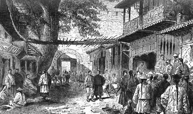 A travers la Chine.  La bibliothèque sur la Chine ancienne. Illustrations Rousset.