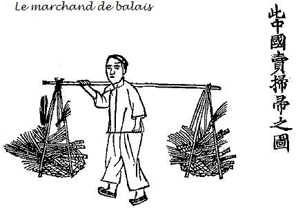 Le marchand de balais. Jean Bouchot (1886-1932) : Scènes de la vie des hutungs. Croquis des mœurs pékinoises.