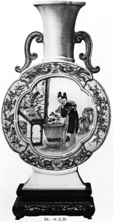 Pièce 89 de Ernest Grandidier (1833-1912) : La céramique chinoise. Firmin-Didot, Paris, 1894, in-4, II+232 pages+42 planches d'héliogravures par Dujardin, reproduisant 124 pièces de la collection de l'auteur.