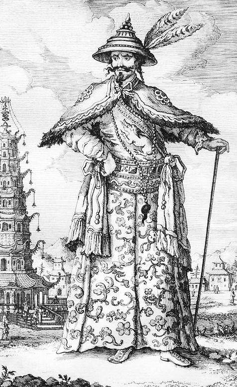 L'Empereur. Jean Bell d'Antermony (1691-1780) : Voyages depuis St Petersbourg en Russie dans diverses contrées de l'Asie,... à Pékin, à la suite de l'ambassade envoyée par le Czar Pierre I, à Kamhi, Empereur de la Chine.