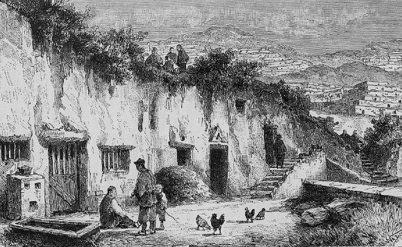Habitations souterraines entre Ti-Dao-Tchoou et Lan-Tcheou