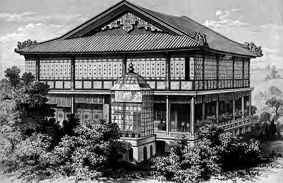 Maison de campagne de Paw-ssé-tchen. Jules Itier (1802-1877) : Journal d'un voyage en Chine en 1843, 1844, 1845, 1846. — À Paris, chez Dauvin et Fontaine, libraires-éditeurs, 1848-1853.