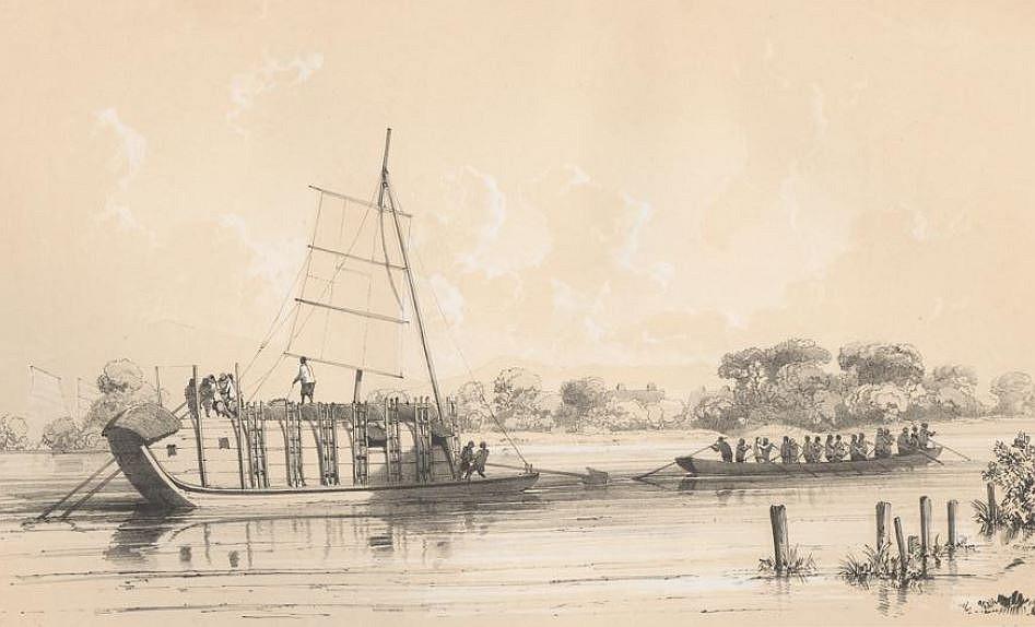 Bateau de transport du Tigre.