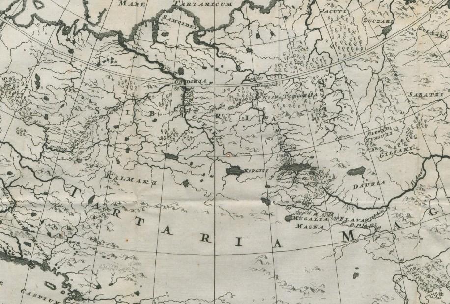 Carte du voyage aller. Le village de Kasma (voir extrait) est positionné au n° 56.