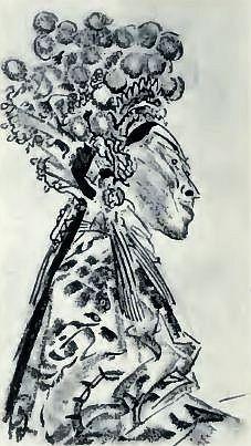 Le théâtre chinois. Peintures, sanguines, croquis, et préface d'Alexandre JACOVLEFF (1887-1938). Texte de TCHOU Kia-kien. de Brunoff, éditeur, Paris, 1922.