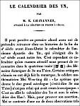 Chavannes. Le calendrier des Yn dans les Mémoires historiques de Se-ma T'sien.