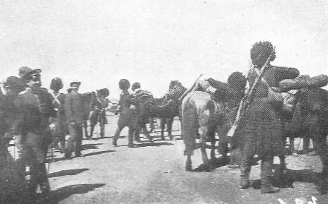 Tien-Tsin. Cosaques. d'ANTHOUARD (1861-1944) : La Chine contre l'étranger : Les Boxeurs.  Plon, Nourrit et Cie, imprimeurs-éditeurs, Paris, 1902
