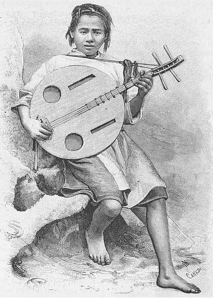 La mandoline. Paul VIAL (1855-1917) : Les Gni ou Gni-Pa, tribu lolote du Yun-nan. Les Missions catholiques, Lyon, tome XXV, 1893; tome XXVI, 1894.