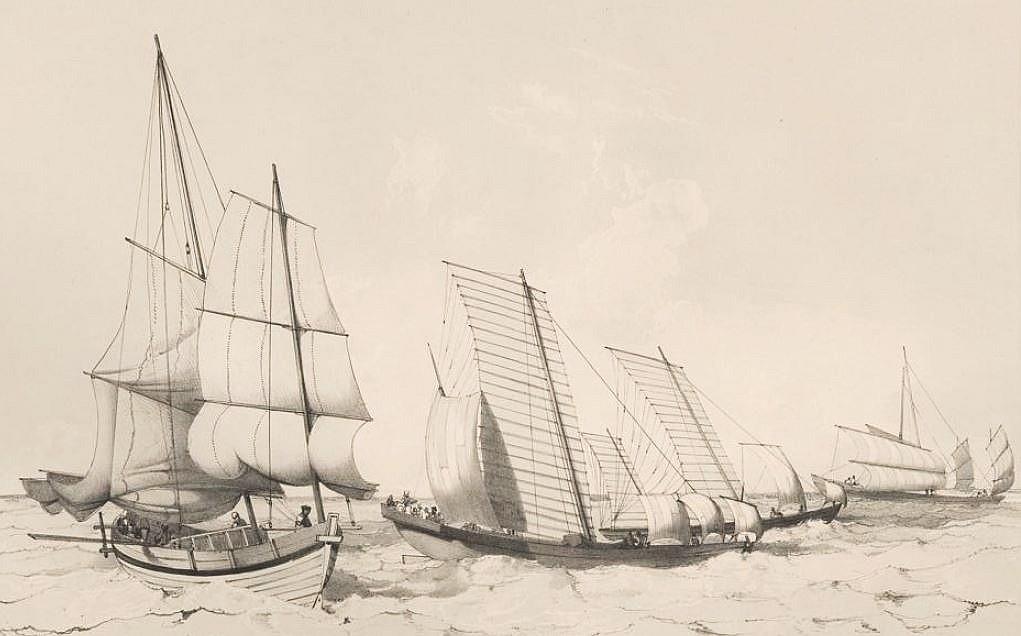 Bateau pilote. — Bateau pêcheurs remorquant des filets