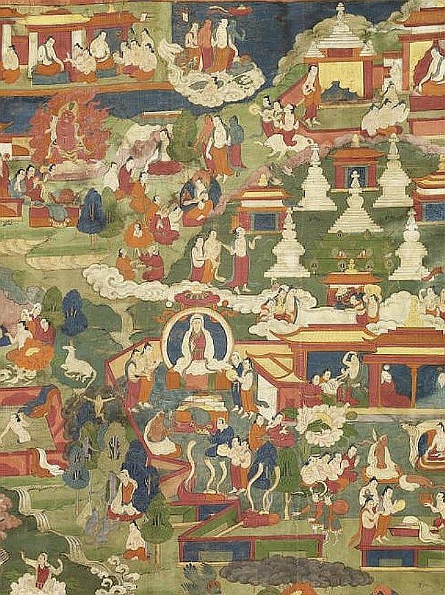 Joseph Hackin (1886-1941) : Mythologie du lamaïsme (Tibet) — Mythologie asiatique illustrée, Librairie de France, Paris, 1928. La légende de Gçen-rabs-mi-bo.
