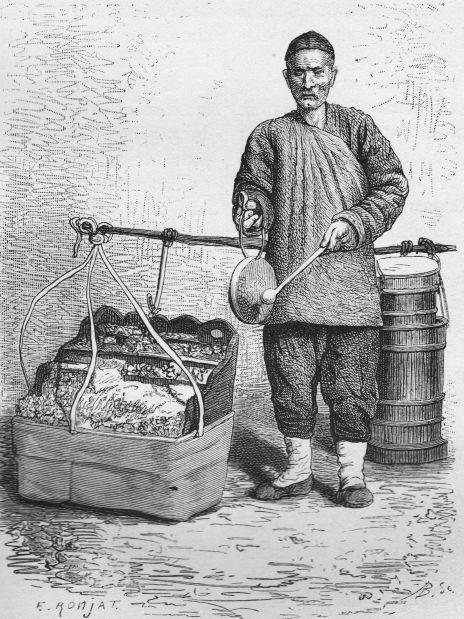 Marchand de sucreries,  d'après une photographie du docteur Morache.