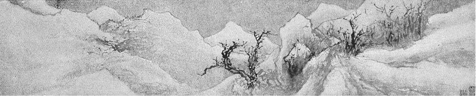 Chiang Soung. L'hiver (détail). Ernst Grosse (1862-1927) : Le lavis en Extrême-Orient