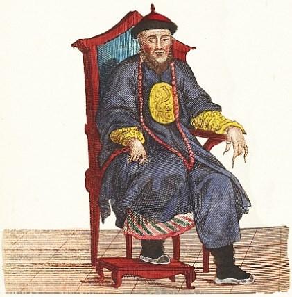 L'empereur Kien-Long. Jean-Baptiste Breton de la Martinière (1777-1852) : La Chine en miniature, ou choix de costumes, arts et métiers de cet empire. — Nepveu, libraire, Paris, 1811.
