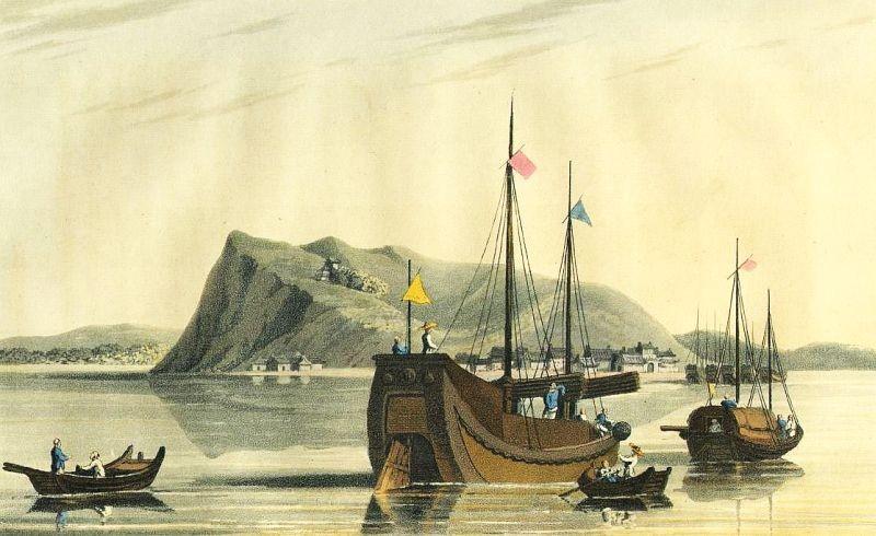 See-lang-shan. Henry Ellis  : Voyage en Chine, ou Journal de la dernière ambassade anglaise à la cour de Pékin. Paris, 1818.