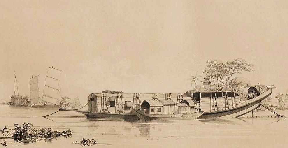 Bateau du Tigre (servant d'habitation et de lieu de débauche).