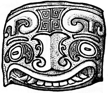 Fig. 69. Gisbert Combaz (1869-1941) : Masques et dragons en Asie. La Chine. — Mélanges chinois et bouddhiques, Institut belge des Hautes Études Chinoises,  vol. VII. Bruges, 1945.