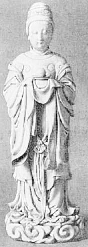 34. Statuette de Si-Wang-Mou. Ballot. Petite histoire de la porcelaine de Chine.
