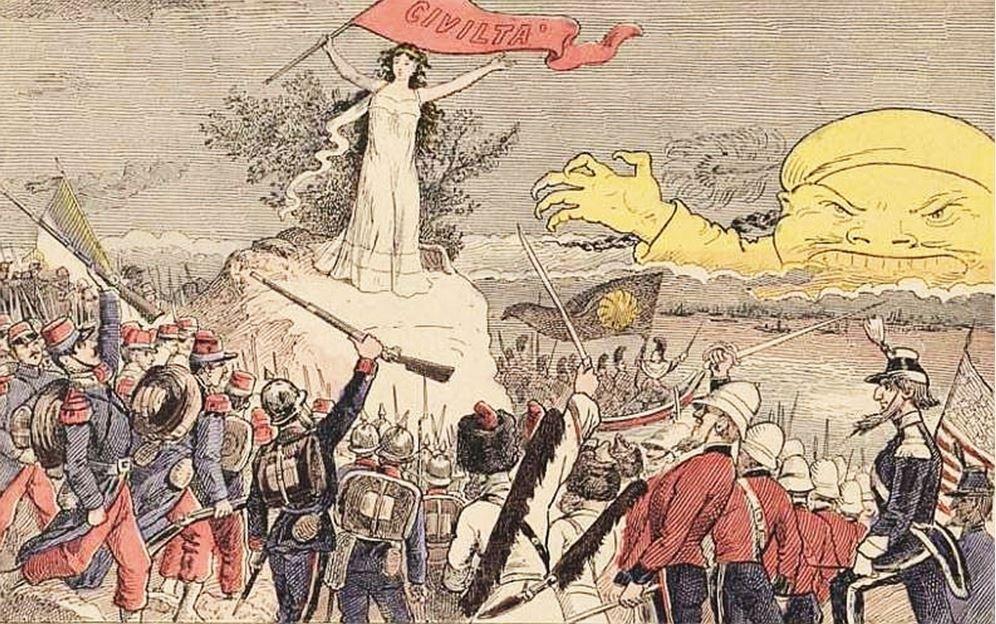 Civilta. John Grand-Carteret (1850-1927) : Chinois d'Europe et Chinois d'Asie. 175 images satiriques, pour servir à l'histoire des chinoiseries de la politique européenne de 1842 à 1900.