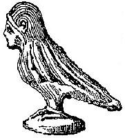 Sirène, oiseau à tête humaine. Fernand de Mély (1852-1935) : Le « De Monstriis » chinois. Revue archéologique, 1897.