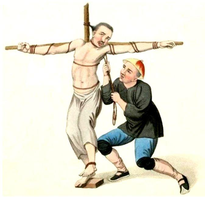 Les punitions des Chinois. Texte de George Henry Mason. Gravures de J. Dadley. G. Miller, Londres, 1801. 21. Peine de mort. La corde.