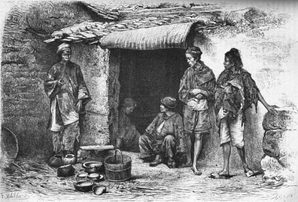 Mendiants, d'après une photographie de M. Thomson.