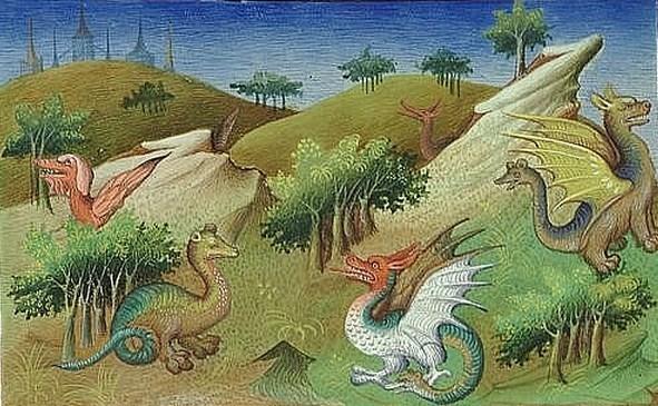 Comment le miniaturiste du Livre des Merveilles comprenait l'alligator ou le boa décrit par Marco-Polo.
