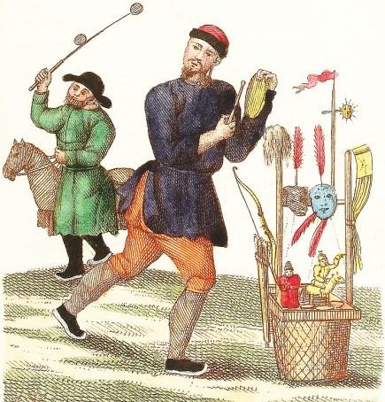 Cheval en carton. Jean-Baptiste Breton de la Martinière (1777-1852) : La Chine en miniature, ou choix de costumes, arts et métiers de cet empire. — Nepveu, libraire, Paris, 1811.