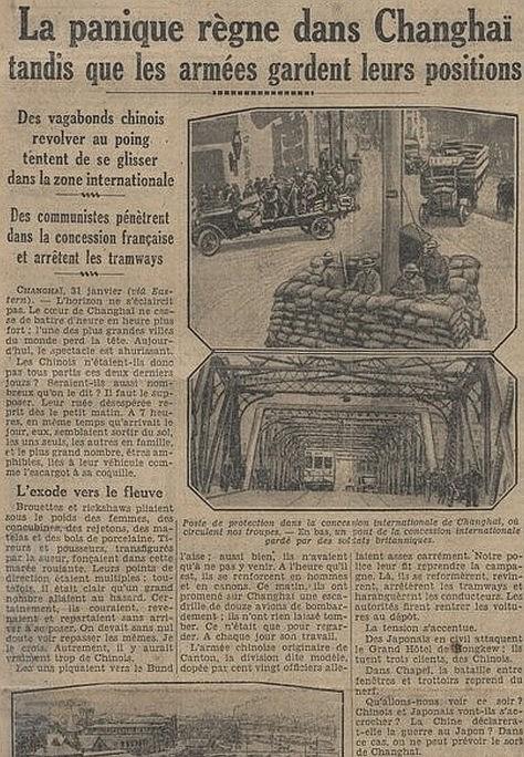 Poste de protection. Les tragiques journées de Changhaï racontées par Albert Londres (1884-1932)  à partir des câblogrammes envoyés de Changhaï au quotidien parisien Le Journal, du 31 janvier au 5 mars 1932.