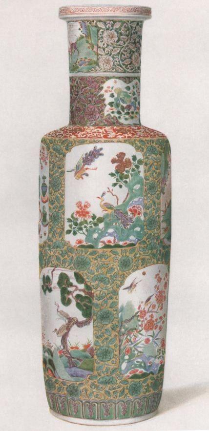 Robert Lockhart HOBSON. Cent planches en couleurs d'art chinois. Vase dépareillé. Famille verte.  Décoration d'émaux sur la couverte. Période K'ang-hi.