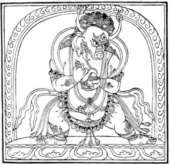 145. Bhairava à une tête. En tibétain : 'Jigs-byed (žal-gčig).